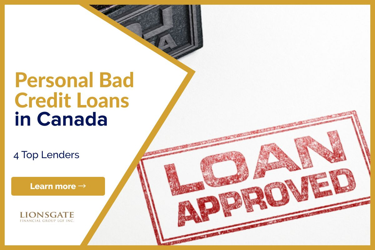 Personal Bad Credit Loans In Canada